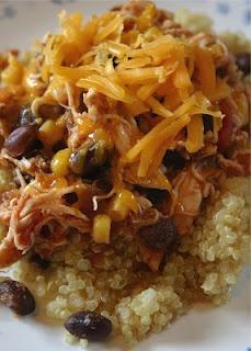 Southwest Shredded Chicken and Quinoa. Dinner made easy!