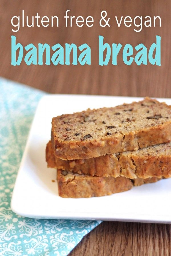 Gluten Free Vegan Banana Bread #glutenfree #recipes #gluten #recipe #gluten-free