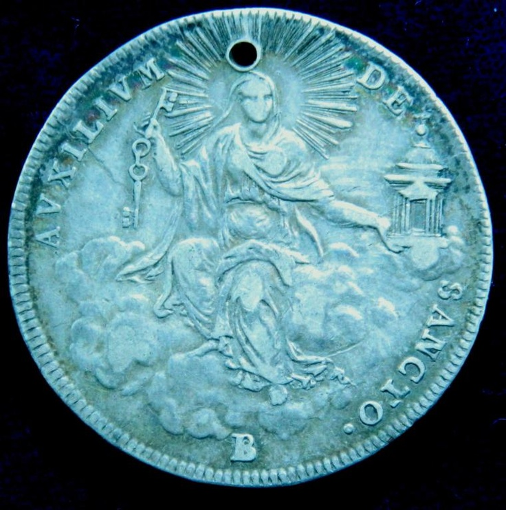 Ватикан СЕРЕБРО 1823 г 1/2 эскудо Sede Vacante 1/2 scudo 1823 auction