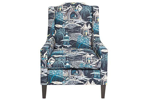 Peyton Toile Chair Indigo
