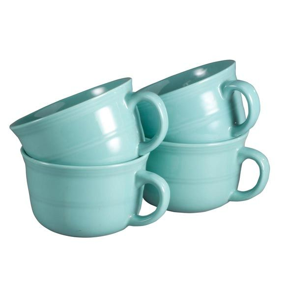 Ceramic Soup Mugs 22 oz. - Set of 4 - Zoom