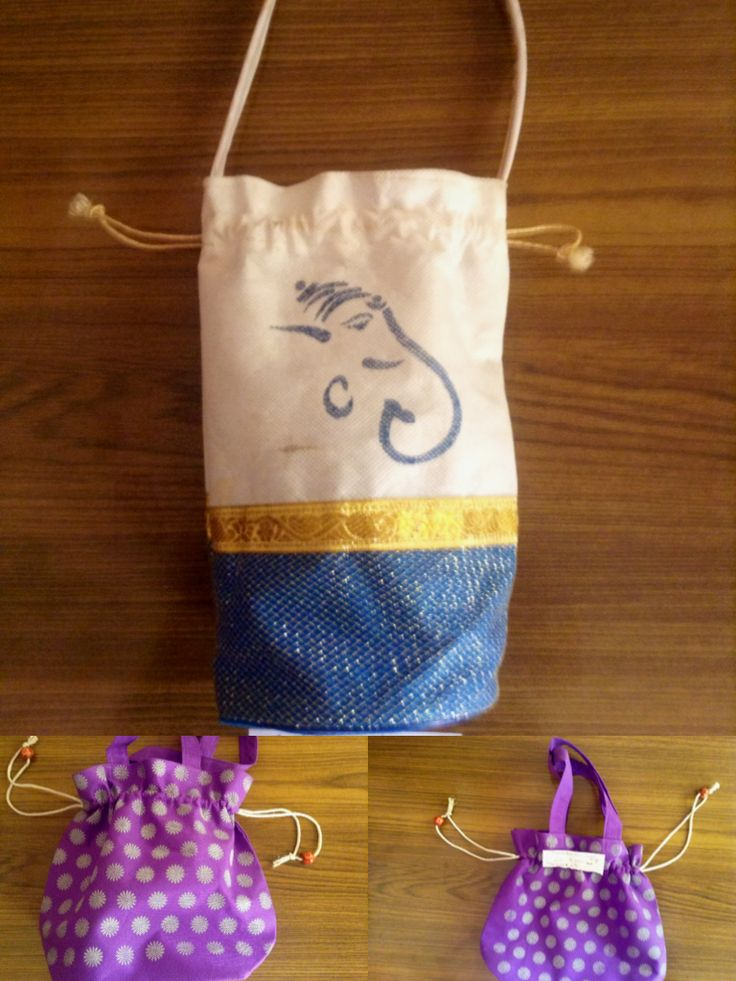 Thambulam bags sat her material with printed design
