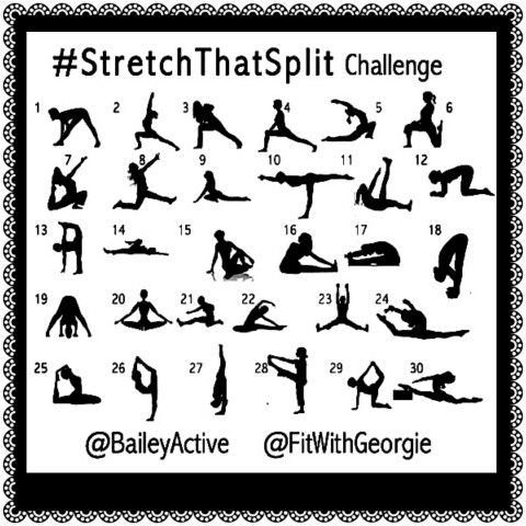 stretch that split challenge on instagram always wanted
