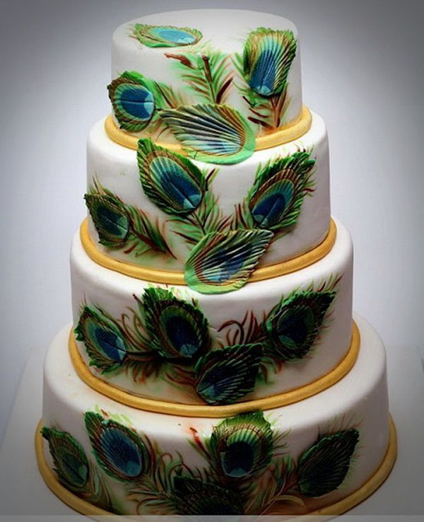 peacock wedding cakes ideas pictures Best Peacock Wedding Cake Ideas modern  Wedding Cakes