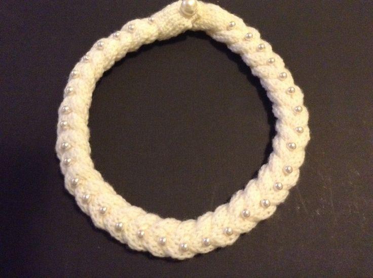 Collana lana e perle