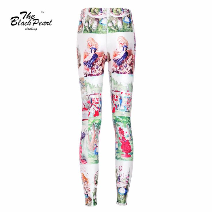 Sexy Leggings Alice in Wonderland 3D Digital Print Pants Slim Fitness Leggings  Only $19.99 => Save up to 60% and Free Shipping => Order Now!  #print leggings outfit #dress #Fashion #girl #Digital #sport #yoga