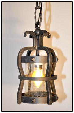 Wrought iron lighting