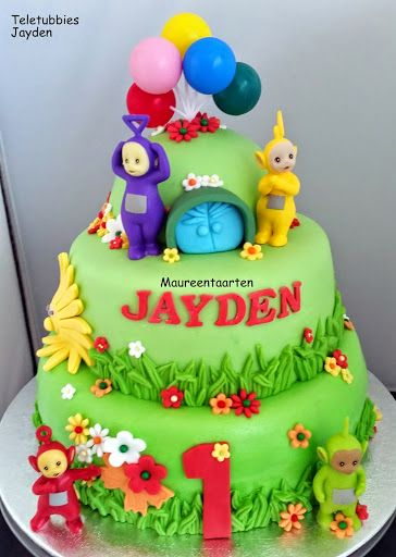 Teletubbies birthday cake! Tinky Winky, Dipsy, Laa-laa, Po! Happy Birthday! Kids! Parenting!