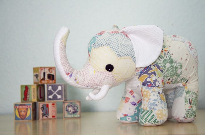 Make a custom stuffed animal from pieces of your child's baby clothing - love this keepsake idea
