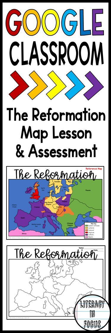 Protestant Reformation map lesson and assessment.  A great foundation for students to learn about geography, countries, and religions during the Protestant Reformation.  Digital and PDF versions included. #reformation #maplesson #worldhistory #middleages #martinluther