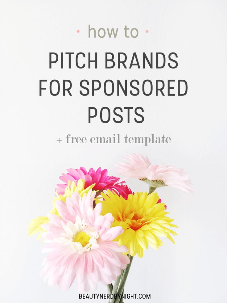 Want to reach out to your favourite brands for sponsored posts or free products, but don't know how to pitch brands? I have a free email template for you!