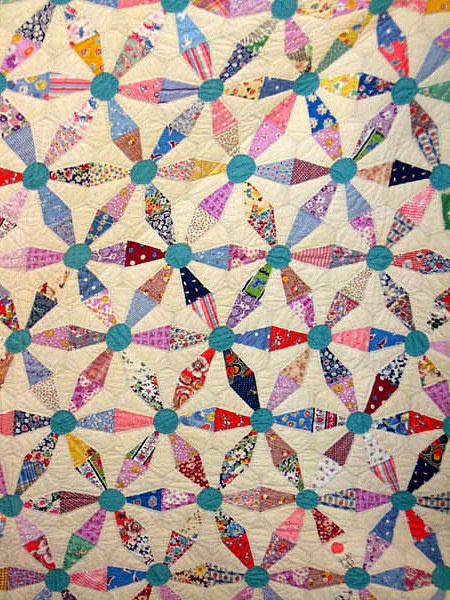Endless chain quilt, collection of Sue McMahan, Mt. Bachelor Quilt Guild show and tell