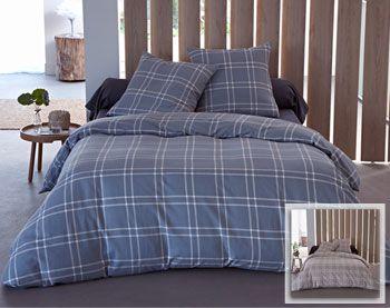 Linge de lit flanelle à carreaux