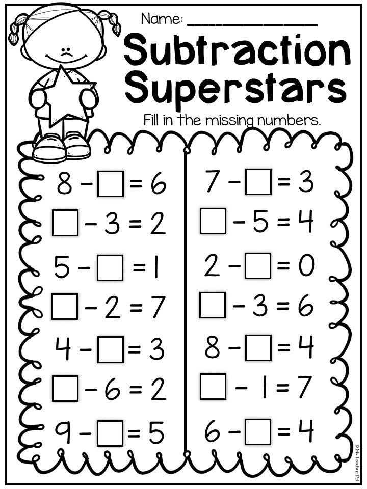 Missing Number Worksheets 1st Grade First Grade Math Worksheets 1st Grade Math Worksheets Addition And Subtraction Worksheets