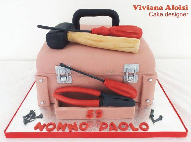 Suitcase of tools cake cassetta degli attrezzi cake Viviana Aloisi
