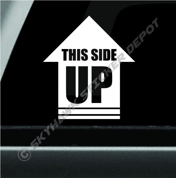 This Side Up Arrow Vinyl Decal Bumper Sticker Rock Crawler Off Road Decal Jeep | eBay