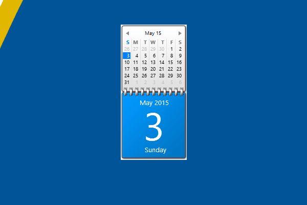 Calendar Planner Desktop Gadget : Blue calendar gadget for windows http win gadgets