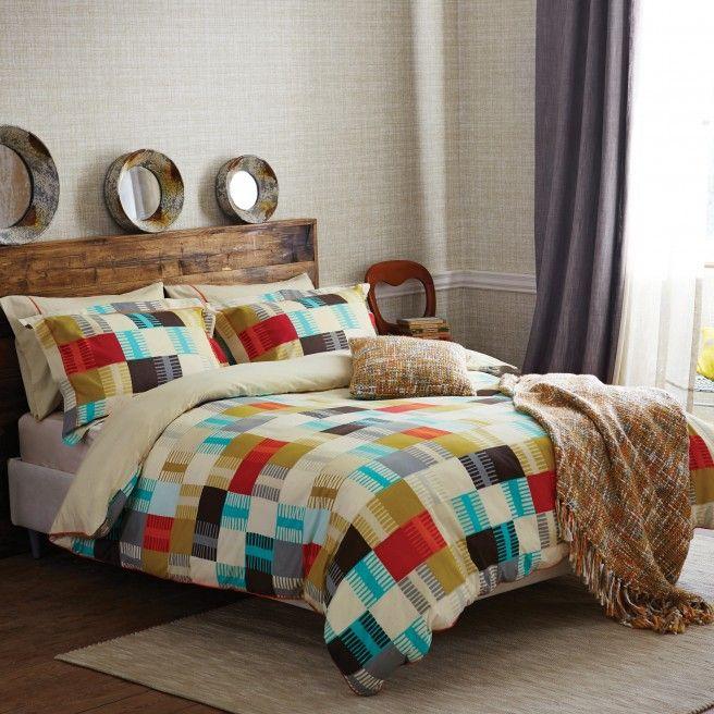 Contemporary Bedding | Scion Navajo Multi Coloured Bed Linen at Bedeck 1951