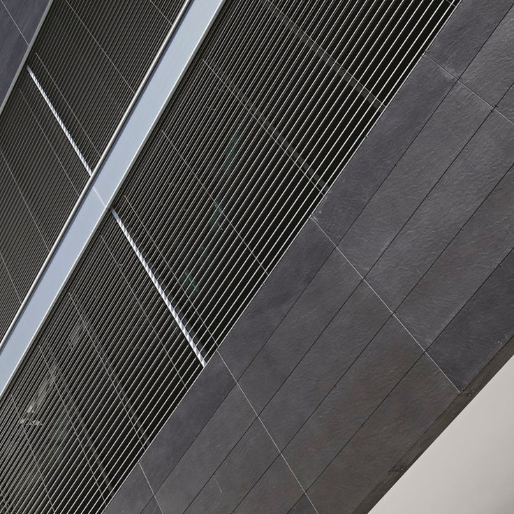 Quarzite Noir 150x37,5 cm used as wall coverings of Hotel Hohenwart