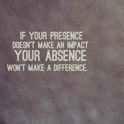 Are you present or absent?