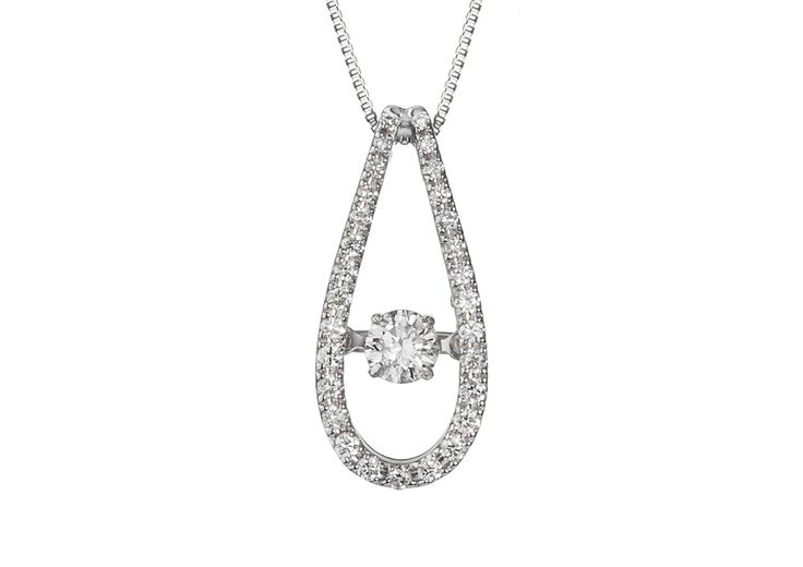 An Elegant 18ct White Gold and Diamond Pendant