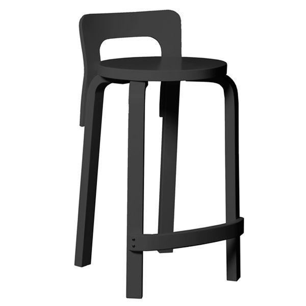 Aalto K65 high chair, black