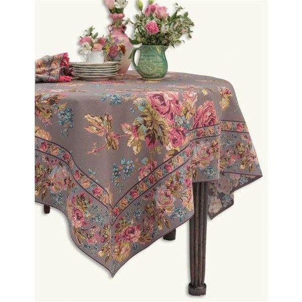 April Cornell Victorian Rose Tablecloth ($49) ❤ Liked On Polyvore Featuring  Home, Kitchen
