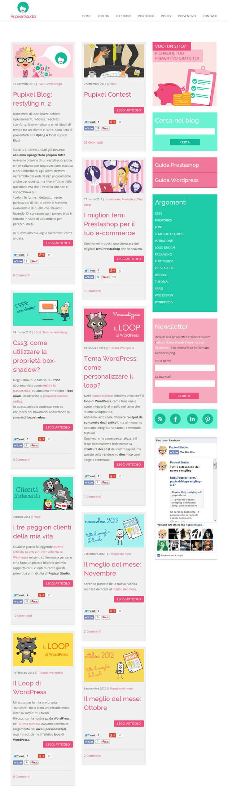Pupixel Blog #restyling #blog #flat #design #responsive
