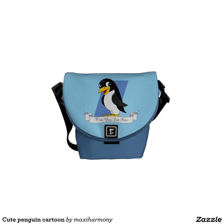 Cute penguin cartoon courier bags