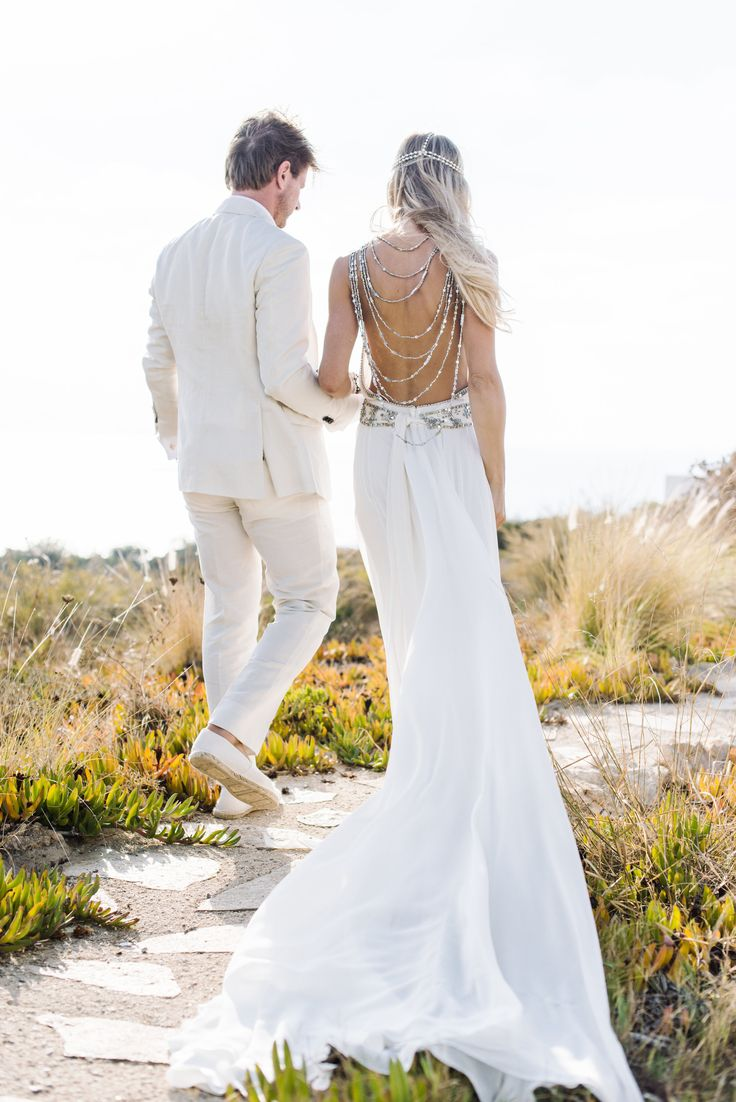 Bohemian Beach Style Wedding Dresses Wedding Dress Ideas