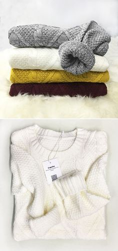 Hot Sale, $24.99! Casual warm sweater are must in the cold days! They are so breathable on comfy, detailing with twist knitting and chic ribbed hem! Warm up now with it!