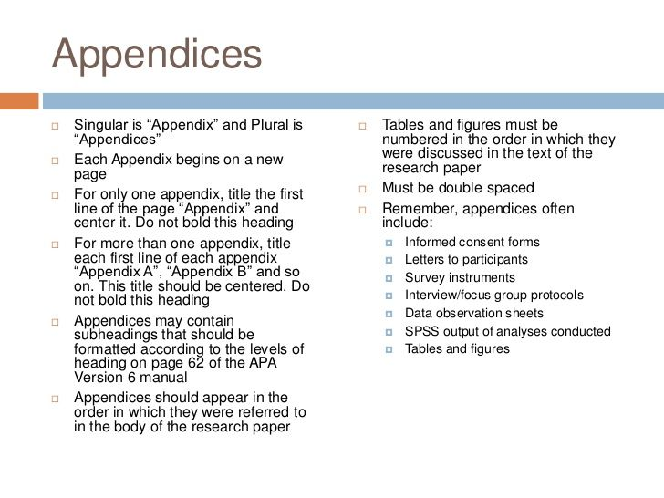 Apa Appendix Format Apa Appendix Paper Writing Service Scientific Writing