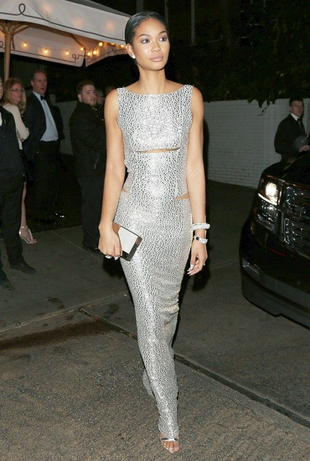 Chanel Iman sparkling in a look styled by Anita Patrickson.