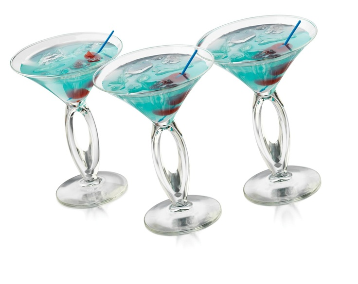 Libbey Cool Tails Cabana Martini Gles Set Of