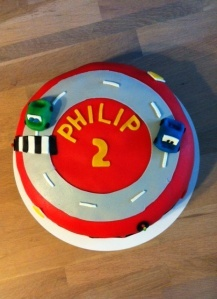 Car cake, birthday cake for a two year old who loves cars!