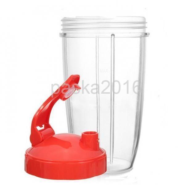 32Oz Plastic Clear Cup Fits For Nutribullet Blender Juicer Mixer Spare Part