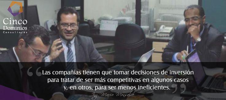 """""""Las compañías tienen que tomar decisiones de inversión para tratar de ser más competitivas en algunos casos y, en otros, para ser menos ineficientes"""" Conozca más de la participación de nuestro Gerente de Consultoría el Ing. Mario Javier Monsalve en el foro """"Evolución del Gobierno de TI: Empresa pública vs. Empresa privada"""" organizado por ACIS (Asociación Colombiana de Ingenieros de Sistemas) goo.gl/oZnm71  #GobiernodeTI"""