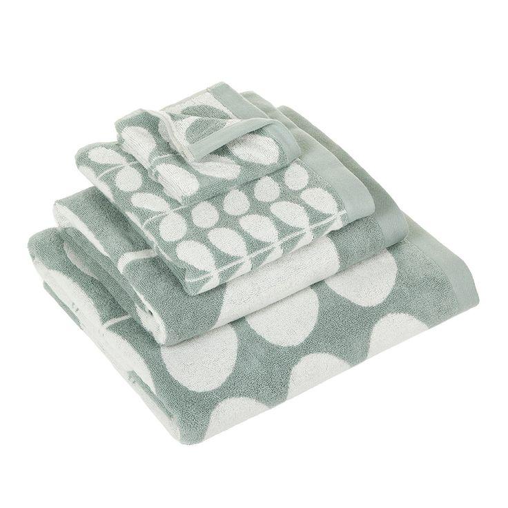 Discover the Orla Kiely Stem Jacquard Duck Egg Towel - Bath Sheet at Amara