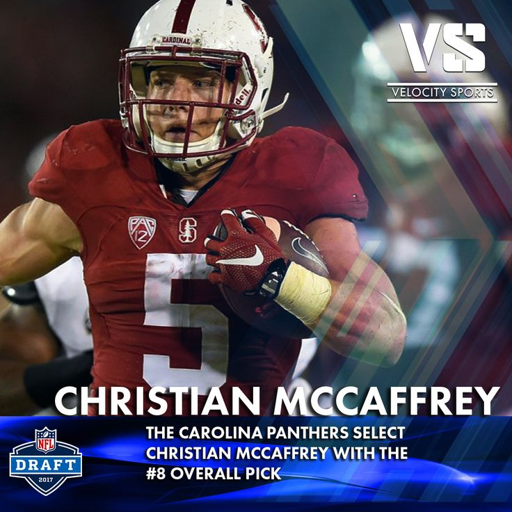 The Carolina Panthers select Christian McCaffrey with the #8 overall pick! .. .. .. .. #DraftDay #NFL #NFLdraft #NFLdraft2017 #football #sports #Panthers #velocitysports #Carolina #CarolinaPanthers