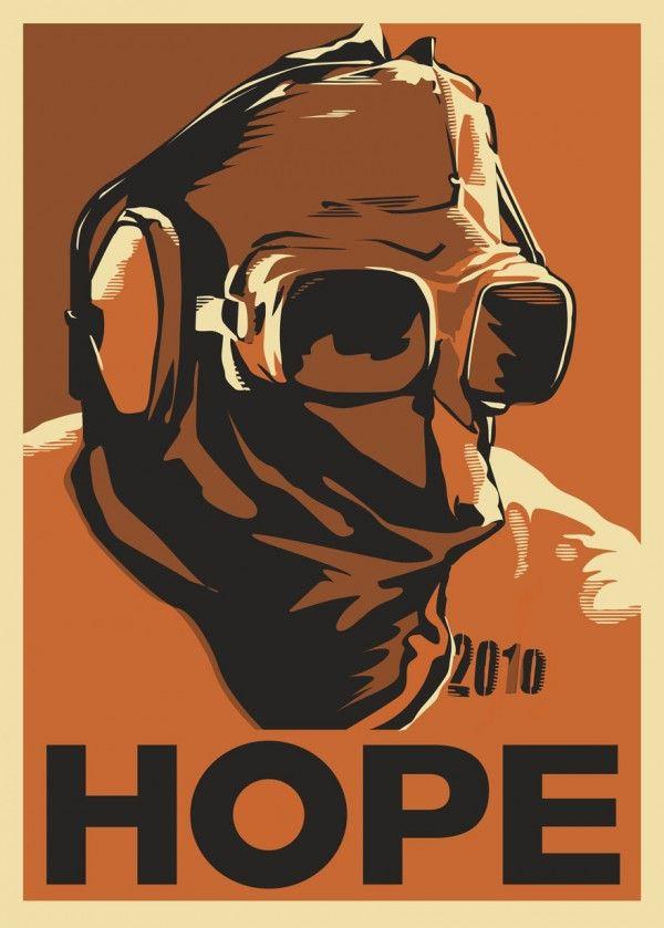 hope retro poster