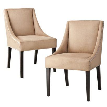 Cappuccino Nailhead Cutback Chair