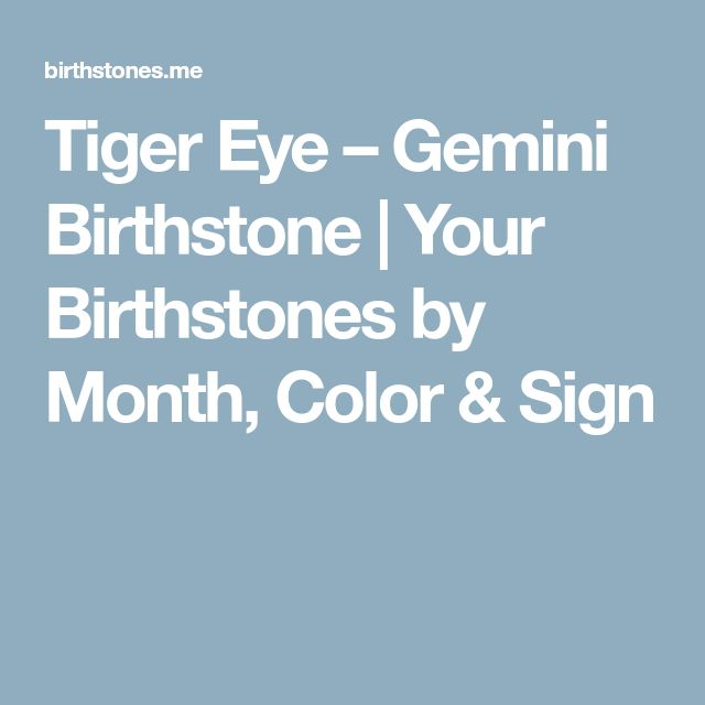 Tiger Eye – Gemini Birthstone | Your Birthstones by Month, Color & Sign