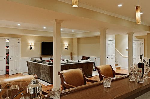 Traditional Basement Photos Walk Out Basements Design, Pictures, Remodel, Decor and Ideas - page 9