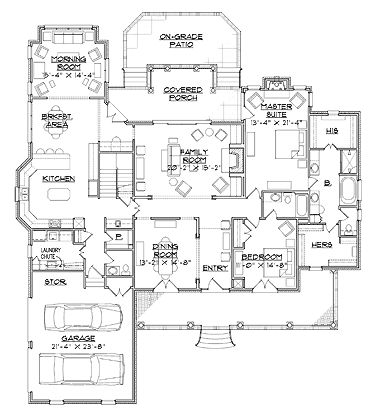 Floor Plans   2 Story Farmhouse Home Plans Home With 5 Bedrooms, 4  Bathrooms And Total Square Feet