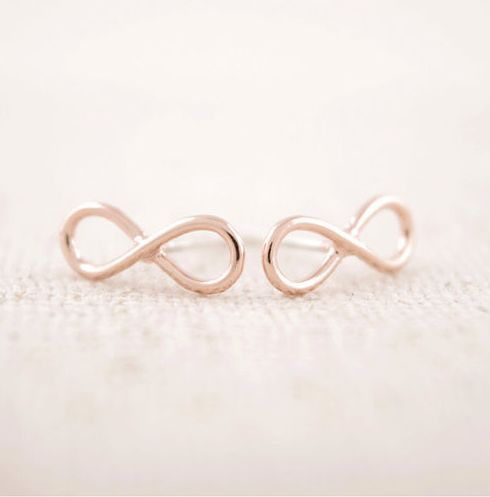 Small Gold Infinity Stud Earrings