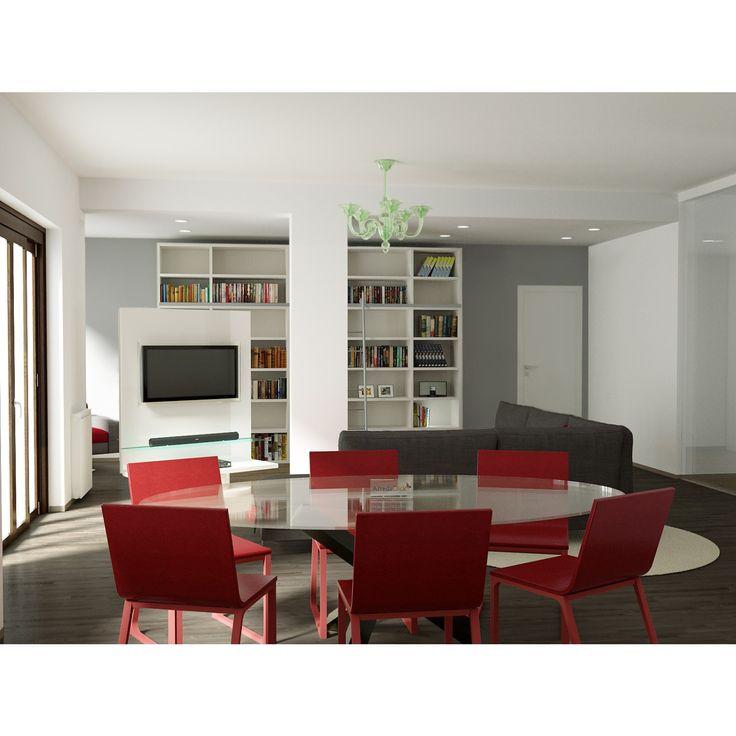 Arredare un soggiorno grande con colonna 13681 ...