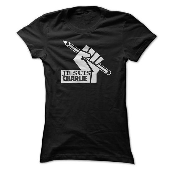 Awesome Tee Je Suis Charlie, Je Suis Charlie Tshirt, Je Suis Charlie Shirt, Charlie Hebdo Tshirt, Charlie Hebdo Satirical Magazine Shirt Shirts & Tees