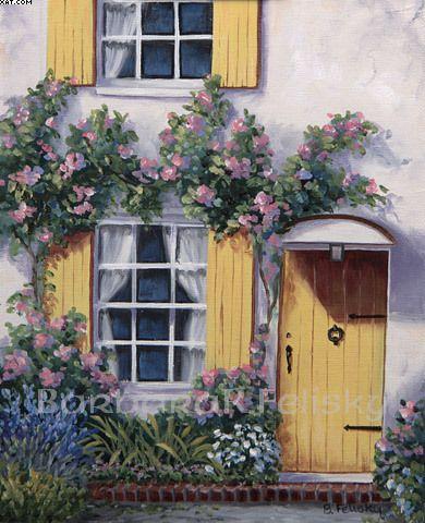 Row House Yellow Door