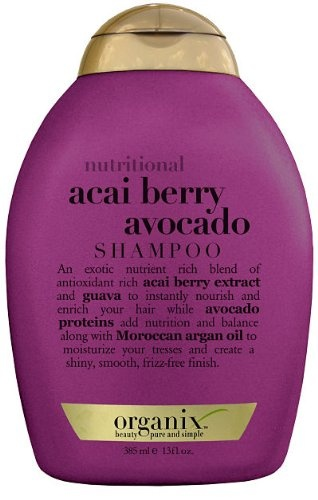 Organix Shampoo, Nutritional, Acai Berry Avocado, 13 oz.
