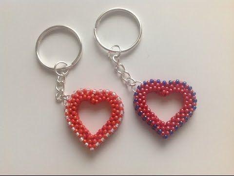 Návod na korálkové srdce - čtyřkorálek/ Tutorial beading heart Raw 3D - YouTube